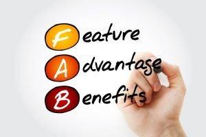 FAB Feature Advantage Benefits Storage Units